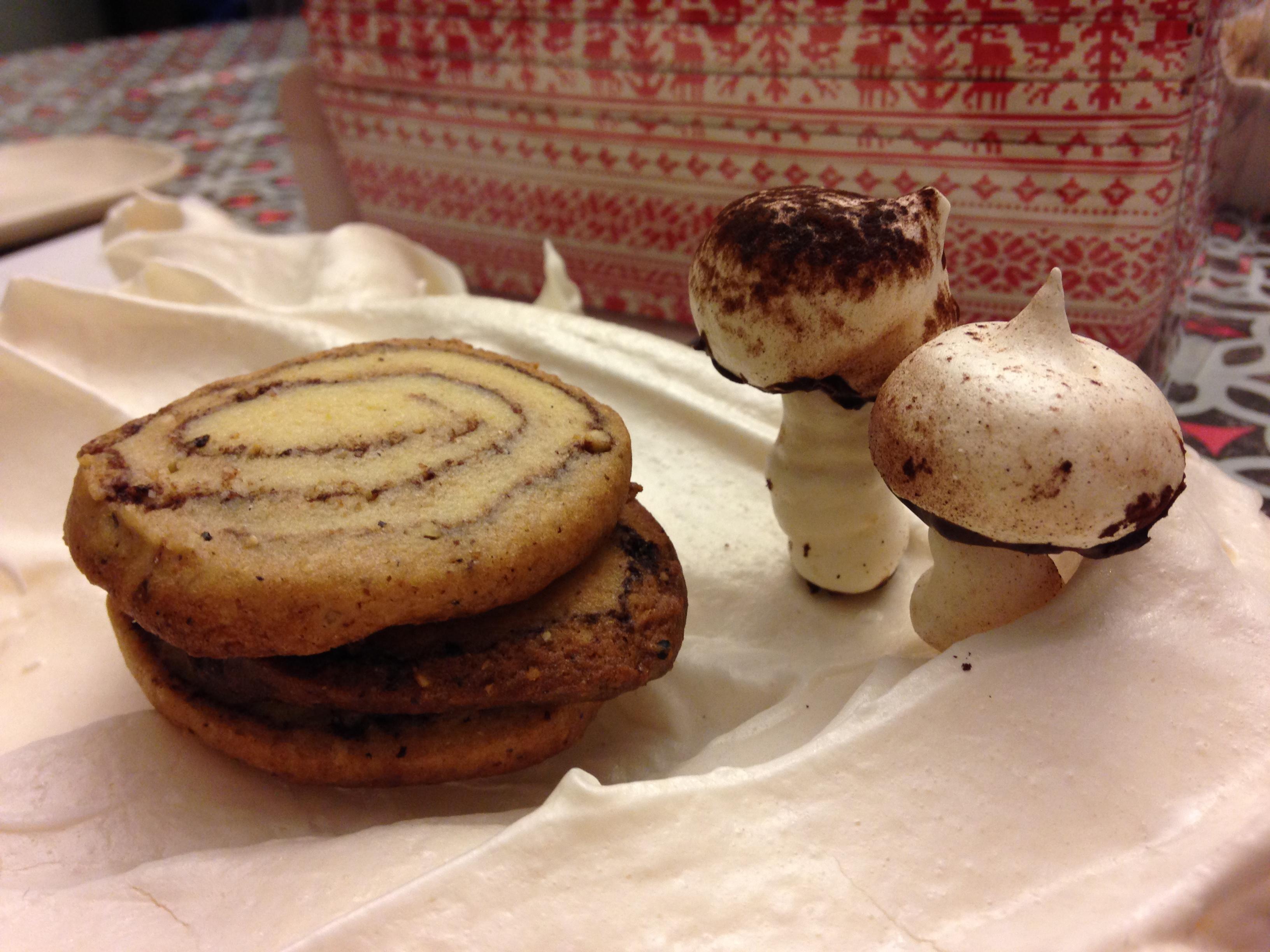 Chocolate Hazelnut Spiced Pinwheel Cookie: Yule Log Cookie ...