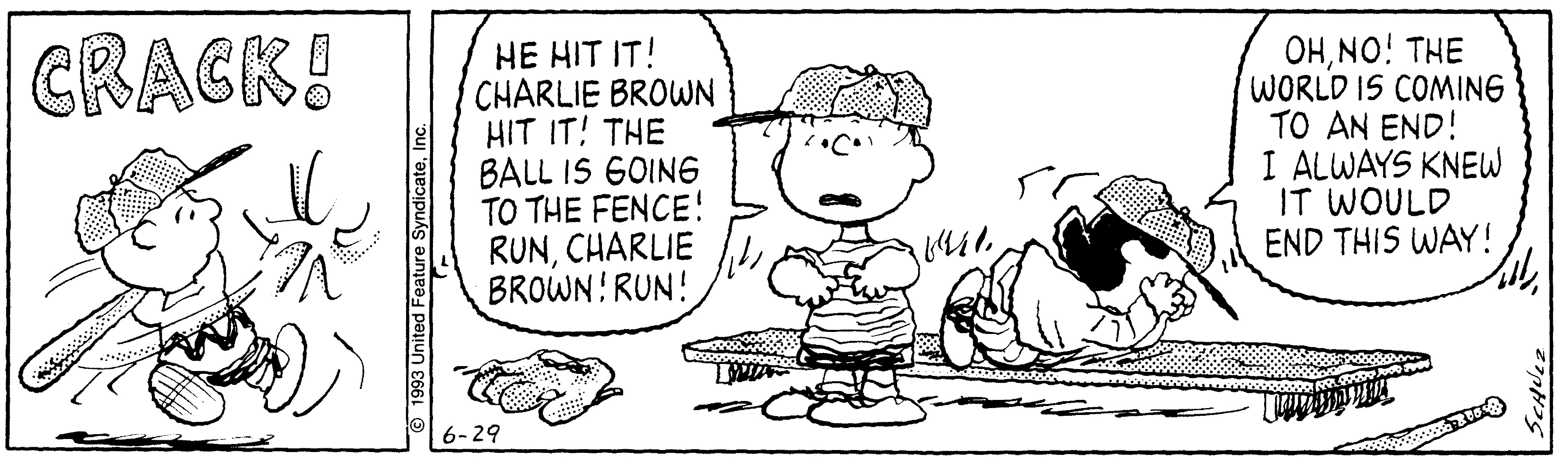 PEANUTS © 1993 Peanuts Worldwide LLC. Dist. By ANDREWS MCMEEL SYNDICATION. Reprinted with permission. All rights reserved.